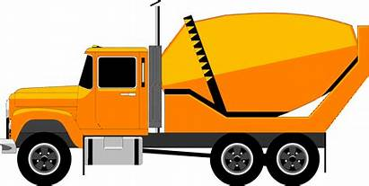 Clipart Truck Cement Mixer Lorry Vector Background
