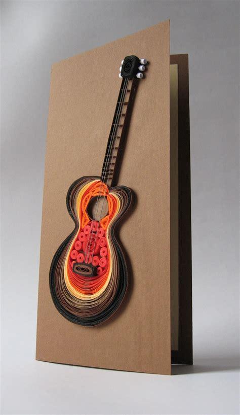 quilled guitar card  marina marina quilling