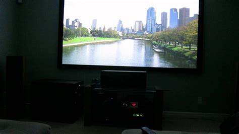surround sound for projector basement home theater 110 inch projection screen 7 1 5949