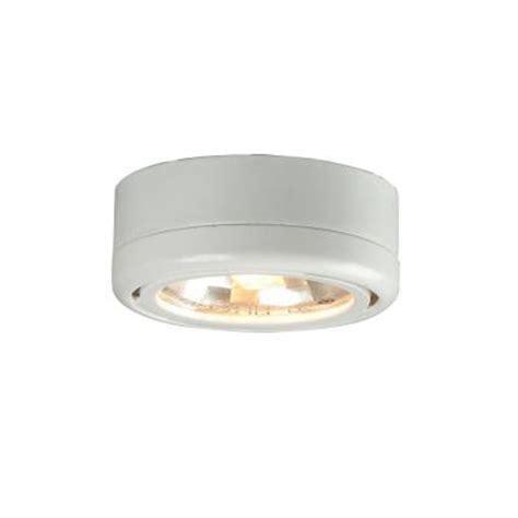 hton bay 1 light cabinet white puck light