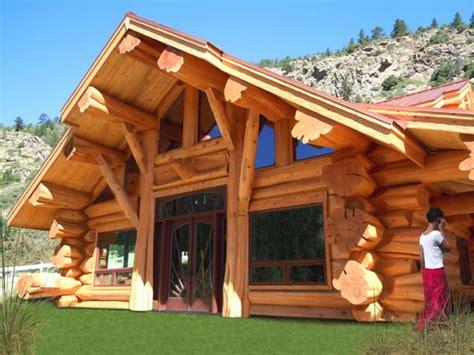 maison rondins de bois pin bois diaporama napapiiri chalets fuste rondin en cedar on