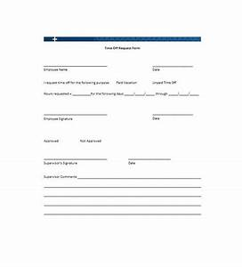 40 Effective Time f Request Forms & Templates