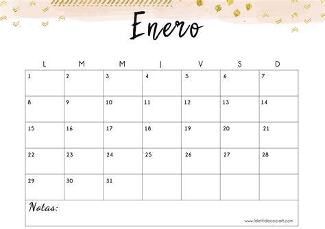 resultado de imagen de calendario mensual