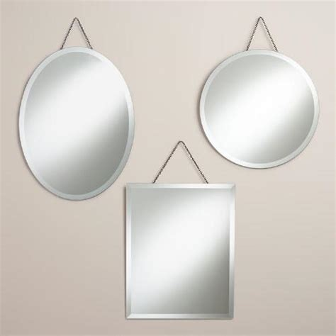 Frameless Wall Mirrors Cheap by Frameless Mirrors World Market
