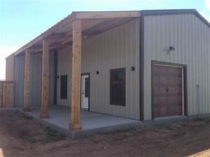 metal house with wrap around porch custom barns and With custom built metal buildings