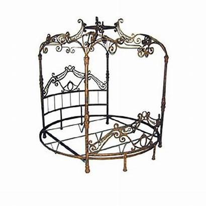 Canopy Bed King Regal Round Iron Bedding