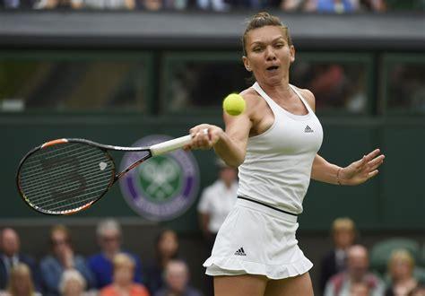 Maria Sharapova beats Simona Halep in US Open first round Photos 110298 - Celebskart