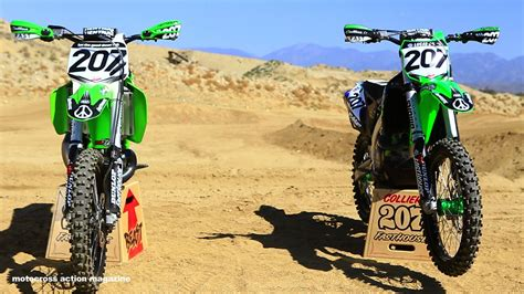 motocross action mag sean collier 39 s kx500 versus kx450 with motocross action