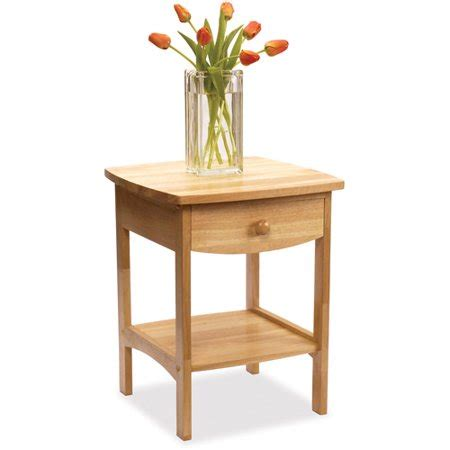 Curved Nightstand by Winsome Curved Nightstand End Table Walmart