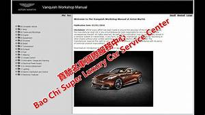 Aston Martin Vanquish Vantage Workshop Manual  Repair
