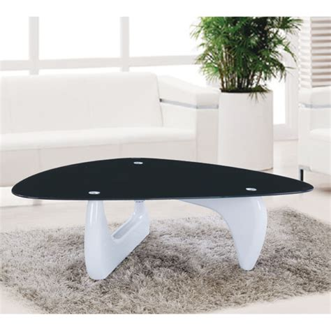 milano black coffee table alpha coffee table in black glass with white gloss base