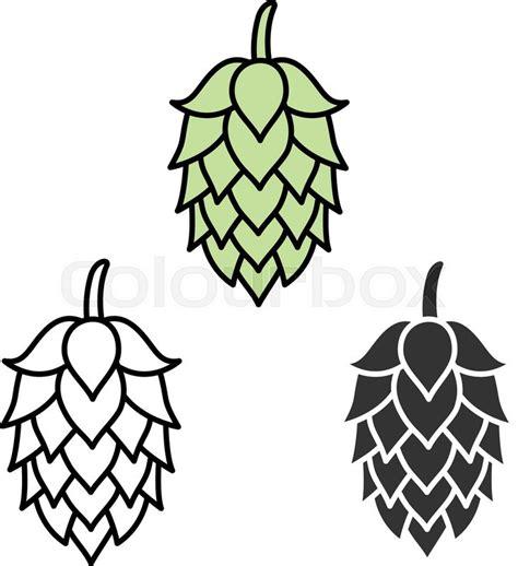 foto de Hop craft beer sign symbol label Stock vector