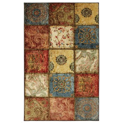 area rugs home depot 9x12 mohawk home artifact panel multi 6 ft x 9 ft area rug