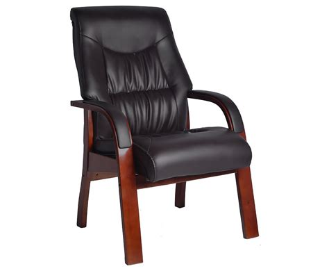 Collier Faux Leather Fireside Arm Chair