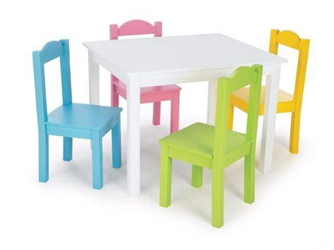 toddler table and chair set mesa para ni 241 os tot madera 4 sillas mesita colores 8542