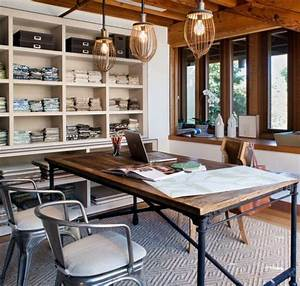 Industrial home office designs for a simple and for Industrial style office