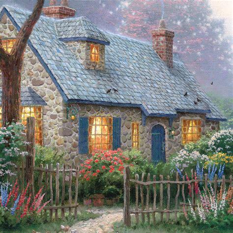 kinkade cottage foxglove cottage limited edition kinkade