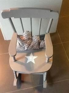 Fauteuil a bascule rocking chair pour enfant avec coussin for Fauteuil rocking chair