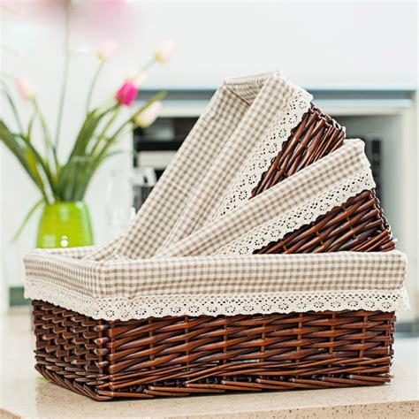 kitchen basket storage multicolor made wicker containing rattan willow 2293