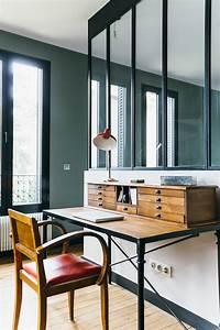 Bureau Secretaire Vintage : nuances de bleu style industriel frenchy fancy ~ Teatrodelosmanantiales.com Idées de Décoration