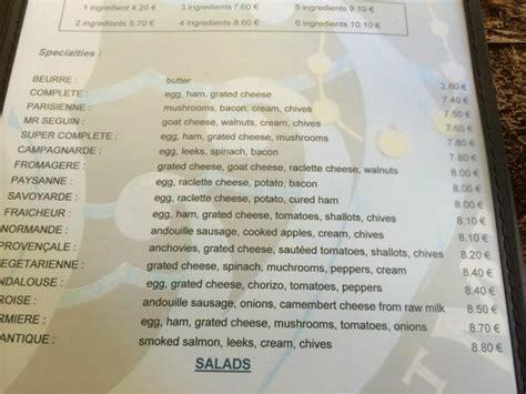 la cuisine de michel menu 2 picture of la sirene mont michel tripadvisor