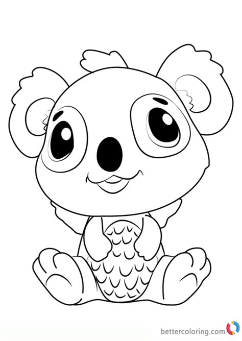 koalabee  hatchimals coloring pages  printable