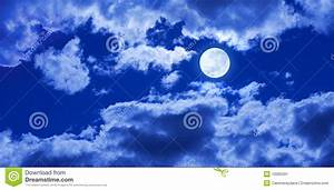 Full Moon Clouds Sky Stock Image - Image: 10065591