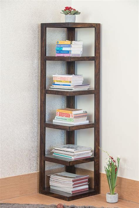 Buy Corner Bookcase by Buy Solid Wood Corner Bookcase Grand New Launches