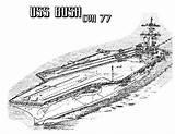 Coloring Carrier Aircraft Ship Cvn Bush Ww2 Battleship Navy Plane Template Attack Sheets Take Coloringsky sketch template