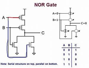 Digital Logic - Simple Nor Gate  Transistor-level  Diagram
