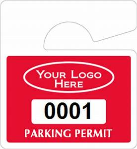 all mini hanging parking permits With hanging parking permit template free