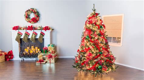 christmas tree basics fillers ribbon youtube