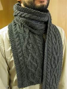 Echarpe Homme Tricot : modele tricot echarpe pour homme ~ Melissatoandfro.com Idées de Décoration