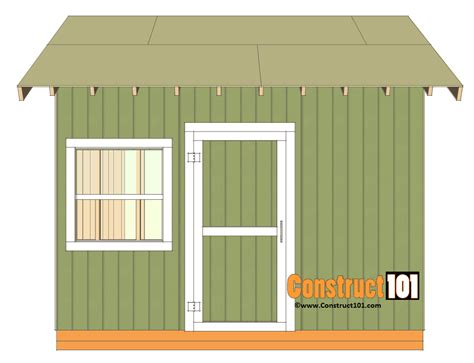 Free 10x12 Shed Plans Gable Roof by 12x12 Shed Plans Gable Shed Construct101