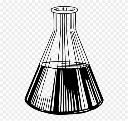 Tube Test Beaker Chemistry Sillouette Clipart Laboratory