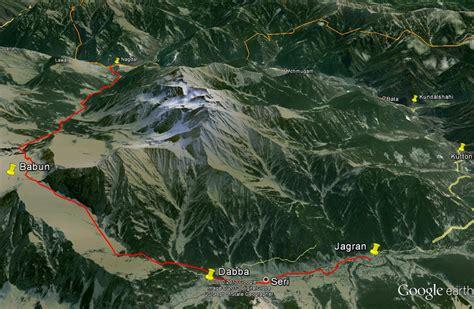 Ratti Gali Lake Trek Route - Google Earth View - Hiking ...