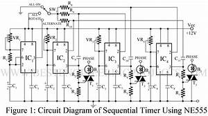 Sequential Timer Circuit Using Ne555