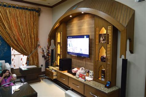 pakistani home design media wall  tv lounge design idea