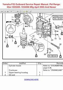 Yamaha F25 Outboard Service Repair Manual Pid By Yung Shellenbarger