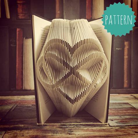 Folded Book Art Infinity Heart Pattern & Tutorial Gift Home