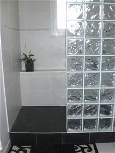 les 25 meilleures idees de la categorie murs de verre sur With porte d entrée alu avec carrelage mural salle de bain noir brillant