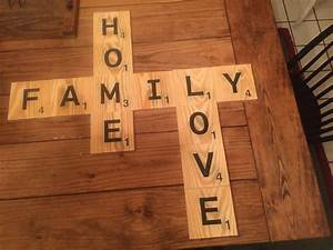 Big large scrabble tiles wall decor gift valentines