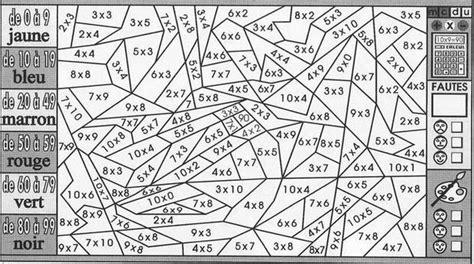 coloriage coloriage magique multiplication cm