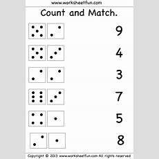 Count And Match  Two Worksheets  Free Printable Worksheets Worksheetfun