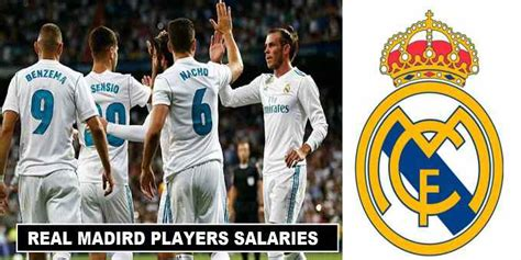 real madrid players salaries 2018 weekly wages revealed
