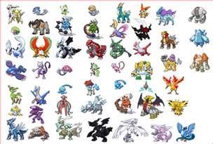 All Legendary Pokemon Sprites