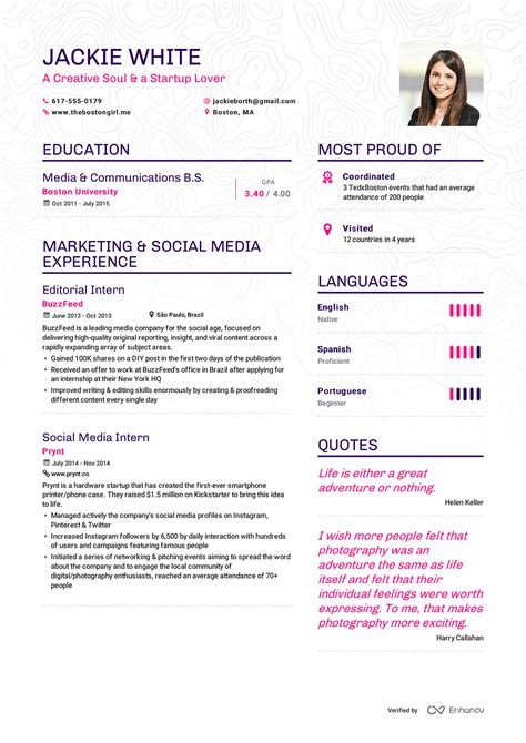 Musterbeispiel Lebenslauf by Enhance Cv Beautiful Resumes Ux Design Resume Exles