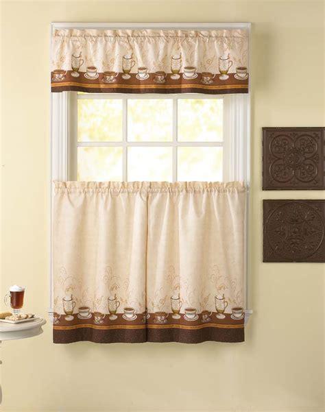 caf 233 au lait kitchen curtain tier and valance