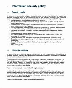 sample it security policy template 9 free documents With infosec policy template