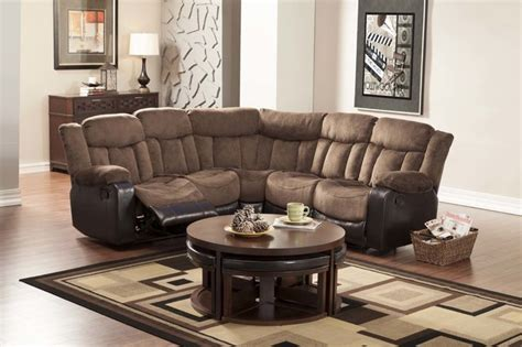Contemporary Microfiber Sectional Sofa by Modern Chocolate Microfiber Leather Reclining Sectional